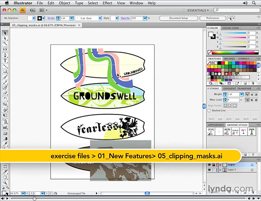 Enhanced CLipping Masks - Illustrator CS4 Video