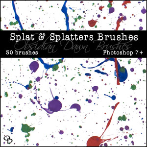 Photoshop Brushes From Stephanie - Splats & Splatters