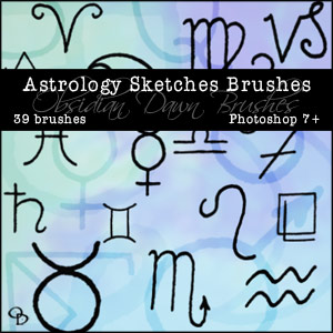 Photoshop Brush Astrology Sketches From Stephanie