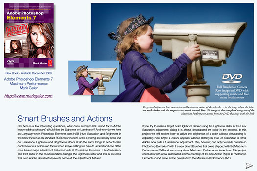 Photoshop Elements 7 Tutorial - Smart Brushes And The Action Player