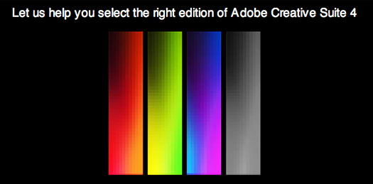 Adobe Creative Suite Selector