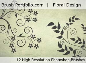 Free Floral Design Photoshop Brushes