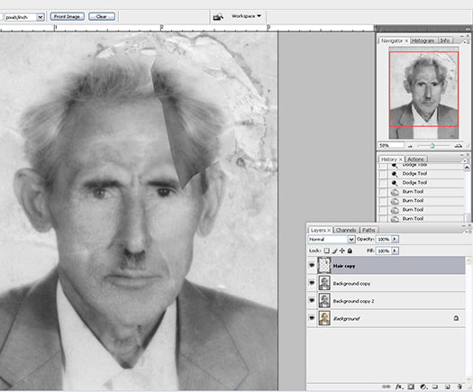Photo Restoration Tutorial - How To Fix Old Cracked Faded Damaged Photos In Photoshop
