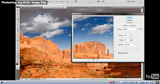 Photoshop Video Tutorial - Image Sizes - Resolution And Resampling