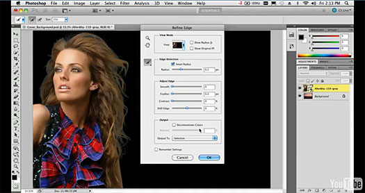 Selecting Hair With The New Edge Detection Tools In Photoshop CS5 - Video Tutorial