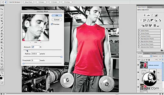 Photoshop CS5: Athletic Retouching Projects - Free Video Clips