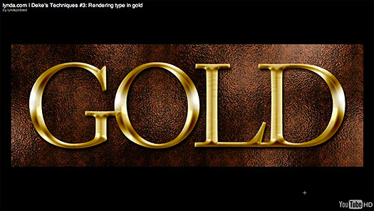 Click here to watch the free video tutorial, Rendering Type In Gold, in a new window