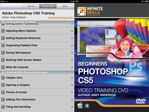 iPad App Features 230 Photoshop HD Video Tutorials