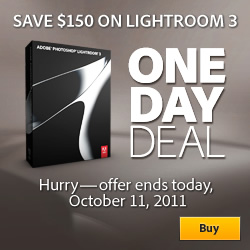 Get 50% Off Photoshop Lightroom - Tuesday, October 11 - One Day Only - You Pay Only $149