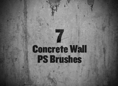 Set Of 7 Free Concrete Brushes For Photoshop
