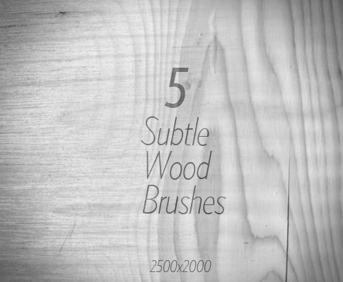 Free Wood Brushes For Photoshop - Set Of 5 Subtle Wood Brushes