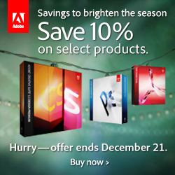 Receive 10% Off On Select Adobe Products In the North America Online Store