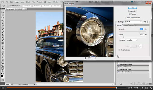 4 Free Photoshop Videos - Sharpening In Photoshop And Lightroom