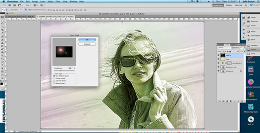 How To Create A Retro Light Leak Effect In Photoshop
