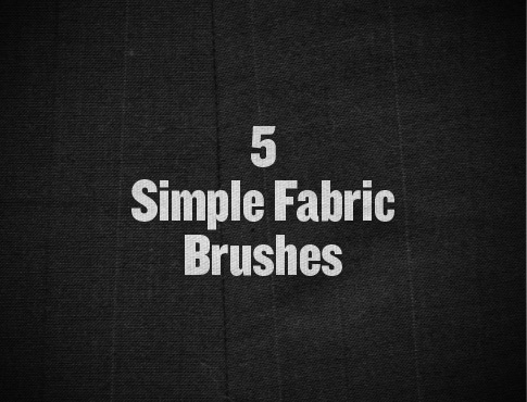 5 Free Fabric Photoshop Brushes