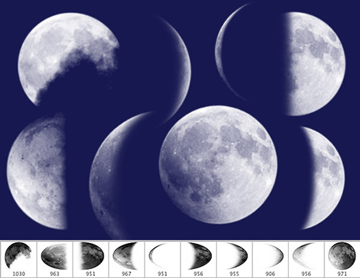 Free Set Of 10 Moon Brushes For Photoshop From iDeasplayer