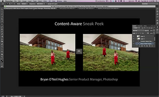 Photoshop CS6 Sneak Peek - Moving And Removing With Better Content-Aware Technology