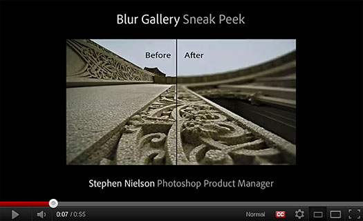 Photoshop CS6 Blur Gallery - Sneak Peek Video