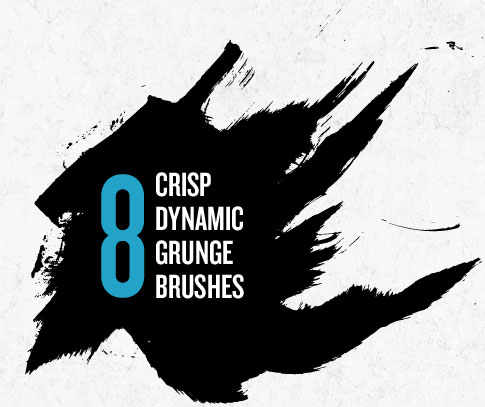 8 Free Dynamic Grunge Brushes From Bittbox