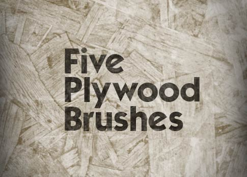 5 Free Photoshop Brushes - Plywood Brushes