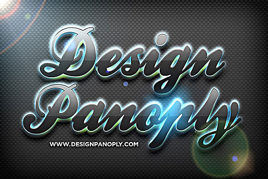 Quick Reflective Glowing 3D Text Effect Tutorial
