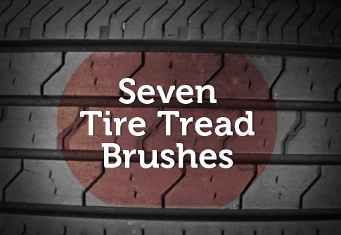 Bittbox is offering a unique set of Photoshop brushes — a set of seven tire tread brushes