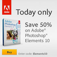 Save 50% On Adobe Elements 10 In Adobe Store - EMENTS50