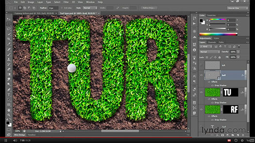 How To Create A Grass Text Effect In Photoshop - HD Video