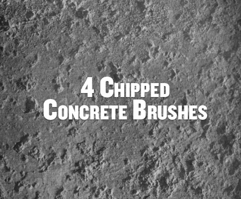Free Set Of 4 Chipped Concrete Photoshop Brushes