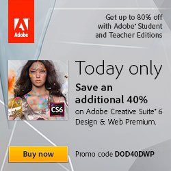 Adobe Deal Of The Day - Get 40% Off Design and Web Premium Suite, Education Version (Students and Teachers)