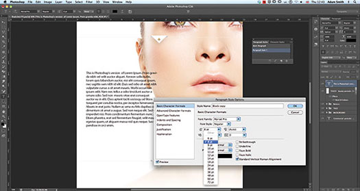 CS6 Tutorial - Formating Text In Photoshop CS6