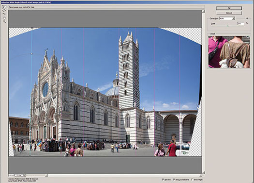 Working With The New CS6 Adaptive Wide Angle Filter