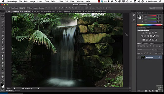 Changing the Photoshop view