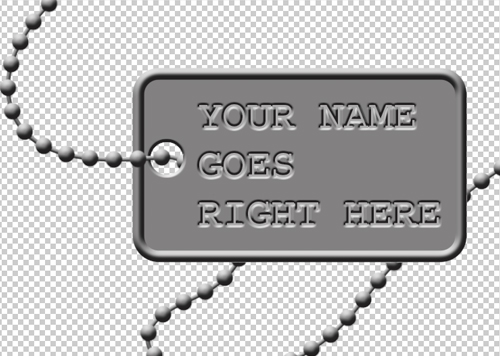 Create a military dog tag in Photoshop - video tutorial with Bert Monroy