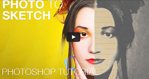 TURN YOUR PHOTOS INTO A SKETCH IN PHOTOSHOP - Video Tutorial