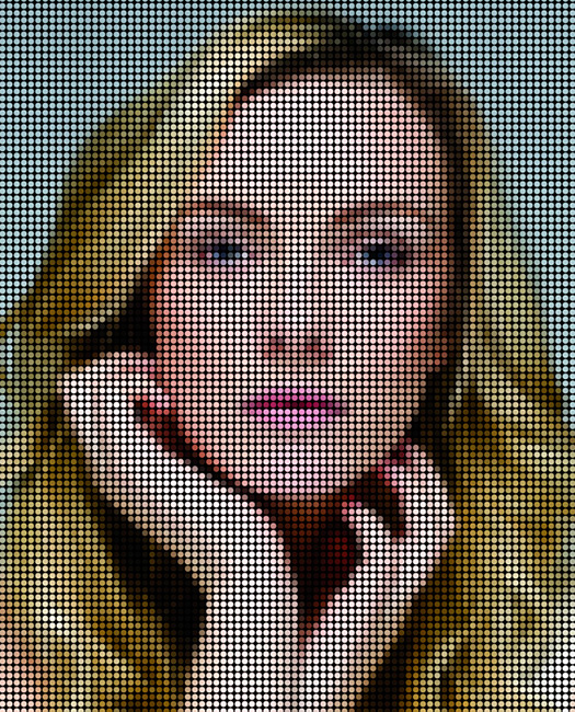 How to make a dotted mosaic effect from a bright, high-contrast image in Photoshop