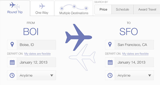 REDESIGNING THE UNITED FLIGHT SEARCH INTERFACE IN PHOTOSHOP. Lots of good ideas and inspiring results.