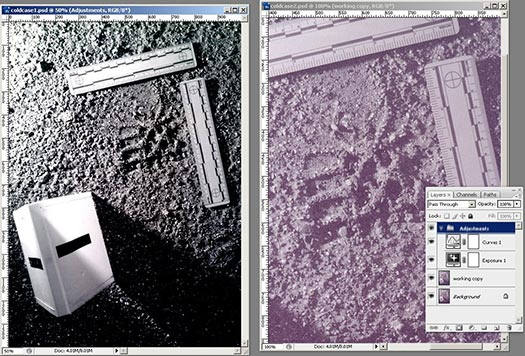 Forensic Photoshop Tutorial - Using Layers To Speed Things Up