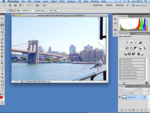 Working With Content Aware Fill In Photoshop CS5 - Photoshop CS5 Tutorial